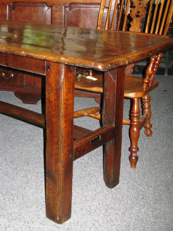 Oak table of two plank construction circa 17th century
