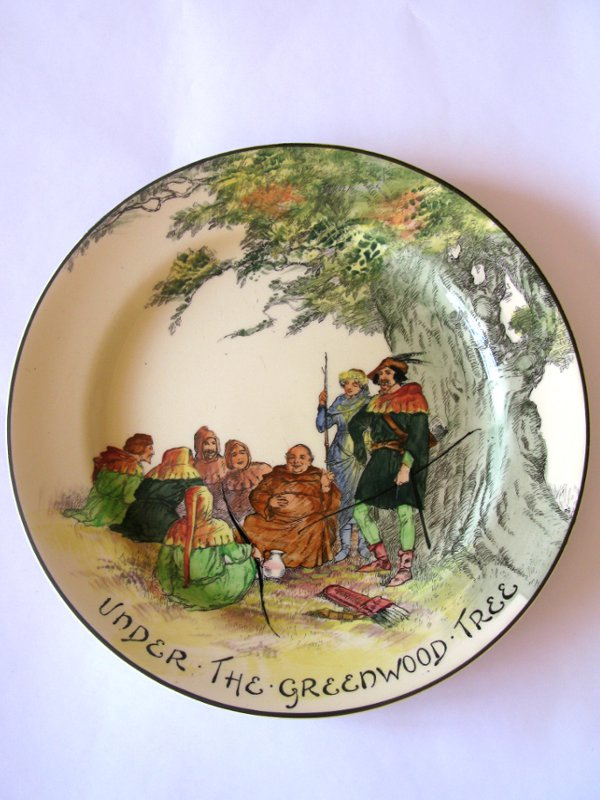 Royal Doulton Plate Under the Greenwood Tree & Royal Doulton Plate Under the Greenwood Tree | Halo Antiques