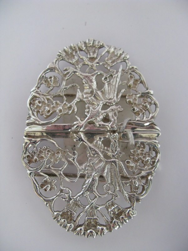 Instinct Antiques Sterling Silver Nurses Belt Buckle